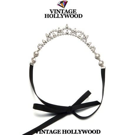 2014 New arrival Vintage hollywood crystal ribbon hair band luxury headbands all-match women/girls hair accessories(China (Mainland))