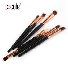 High Quality 6PCS/set Professional Eye Brushes Set Eyeliner Brushes 5 colors Packing Cosmetic Make Up Brush Tools Kit(China (Mainland))