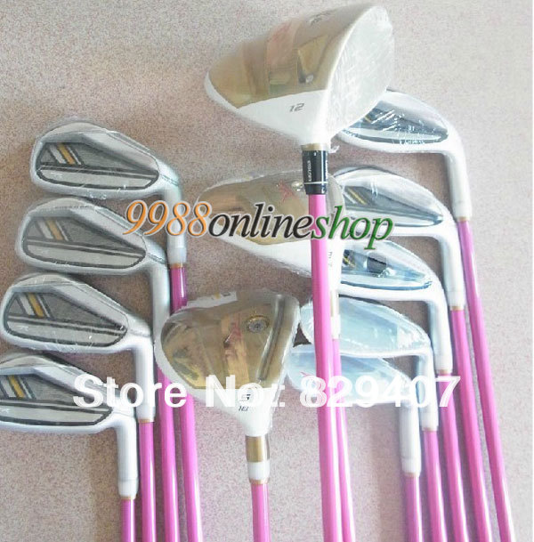New golf clubs RBZ STAGE2 Women Complete Club Sets 3wood+9iron(No bag.Putter)Pink Color Graphite shaft EMS Free Shipping(China (Mainland))