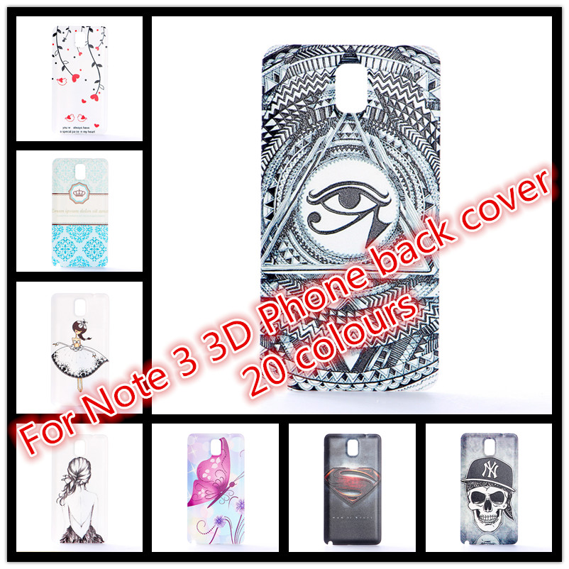 Note3 case Phone Case New Arrive 3D Relief Painted Pattern For Samsung Galaxy Note 3 N9000