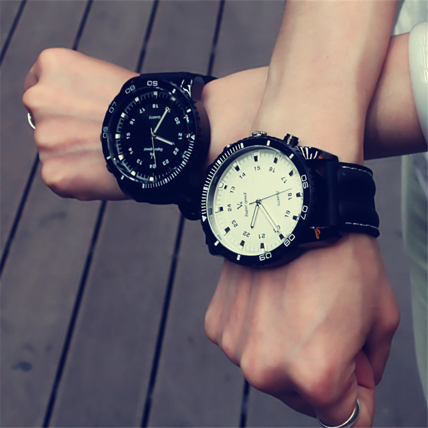 Korean Fashion Relogio Men Necessary Sport Large Dial Student Watch Neutral Silicone Watches Business Wristwatch New 2016<br><br>Aliexpress