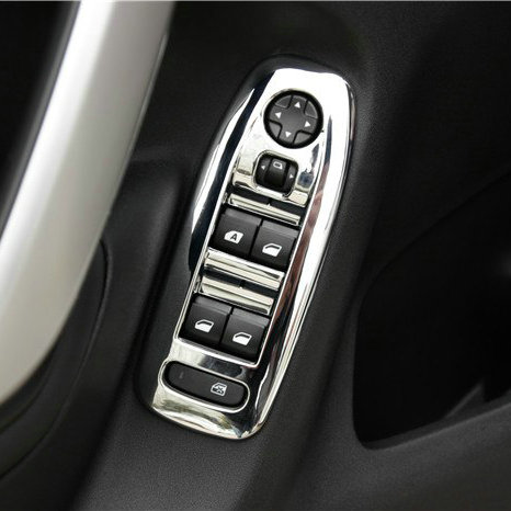 Citroen C3 XR 2014  inner door armrest panel trim handle ABS Chrome trim switch window