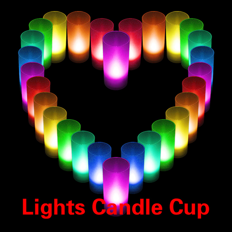 BEST Romantic LED BulbsCandle Color Changing Wedding Party Xmas Decor light Flameless Lights Cup Free Shipping(China (Mainland))