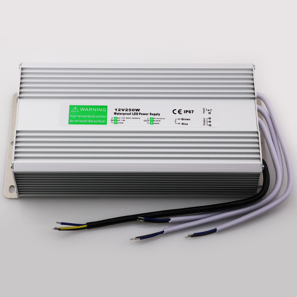 Free Shipping Waterproof DC 12V 250W LED Driver IP67 AC 170-250V Power Supply LED Transformator Switching Power Supply 12V 250W<br><br>Aliexpress