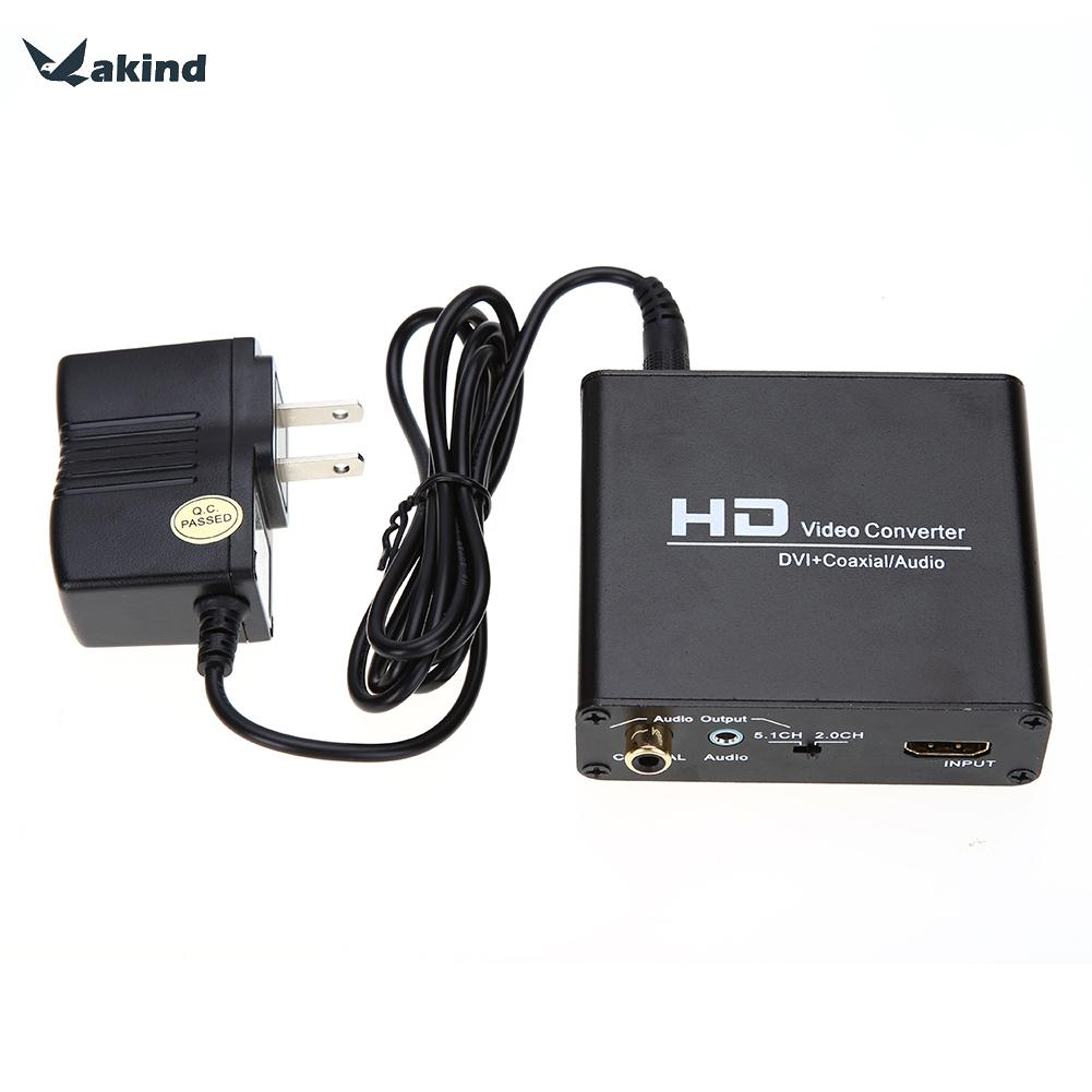 High Quality HDMI to DVI Cable Converter+ Coaxial Stereo Audio Output with Power Supply for PS3 Blue ray DVD(China (Mainland))
