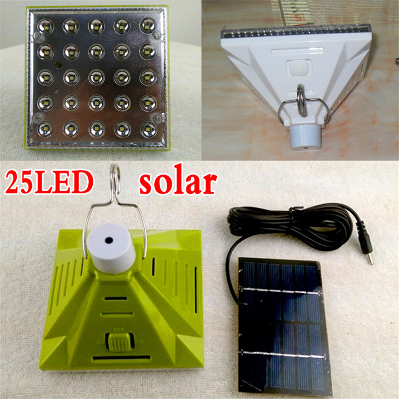 25 led solar light garden decoration solar lamp led light outdoor dimmable indoor solar lights + solar panel emergency lighting(China (Mainland))