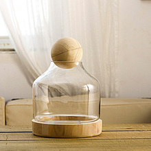 Soft time home accessories transparent glass ornaments Tuscany logs stuffed creative Decoration