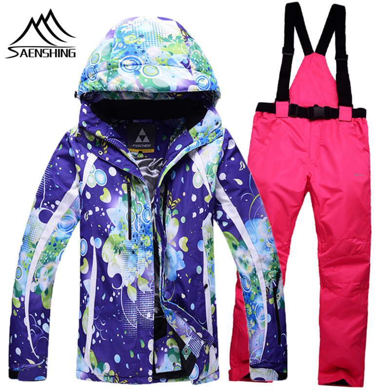 24 colors new arrival women's snowboard suit winter warmth outdoor waterproof breathable female ski suits jackets+snow pant(China (Mainland))