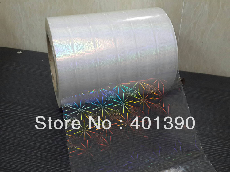 BOPP holographic film lamination film 18microns size same as picture 16CM*(China (Mainland))
