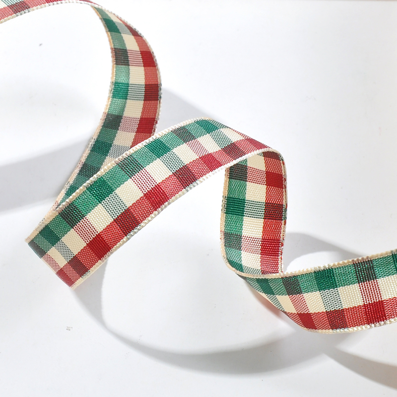 1.5''38mm Polyester Scottish Tartan Plaid Ribbon 100yds/lot For Dress Home Wedding Decoration DIY Sewing Crafts Gift Wrapping(China (Mainland))