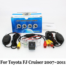 For Toyota FJ Cruiser 2007~2011 (Spare Wheel On Door / RCA Wire Or Wireless HD Wide Lens Angle CCD Night Vision Rear View Camera(China (Mainland))