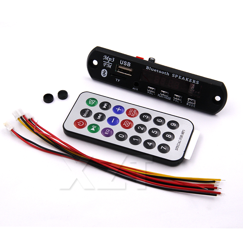 ZB Hoest 1pcs Wireless Bluetooth 12V MP3 WMA Decoder Board Audio Module USB TF Radio For Car accessories(China (Mainland))