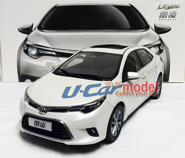 1pcs/ a lot 1:18 TOYOTA LEVIN 2014 (The American corolla) Die-cast Model Car (New Arrival) Whte color(China (Mainland))