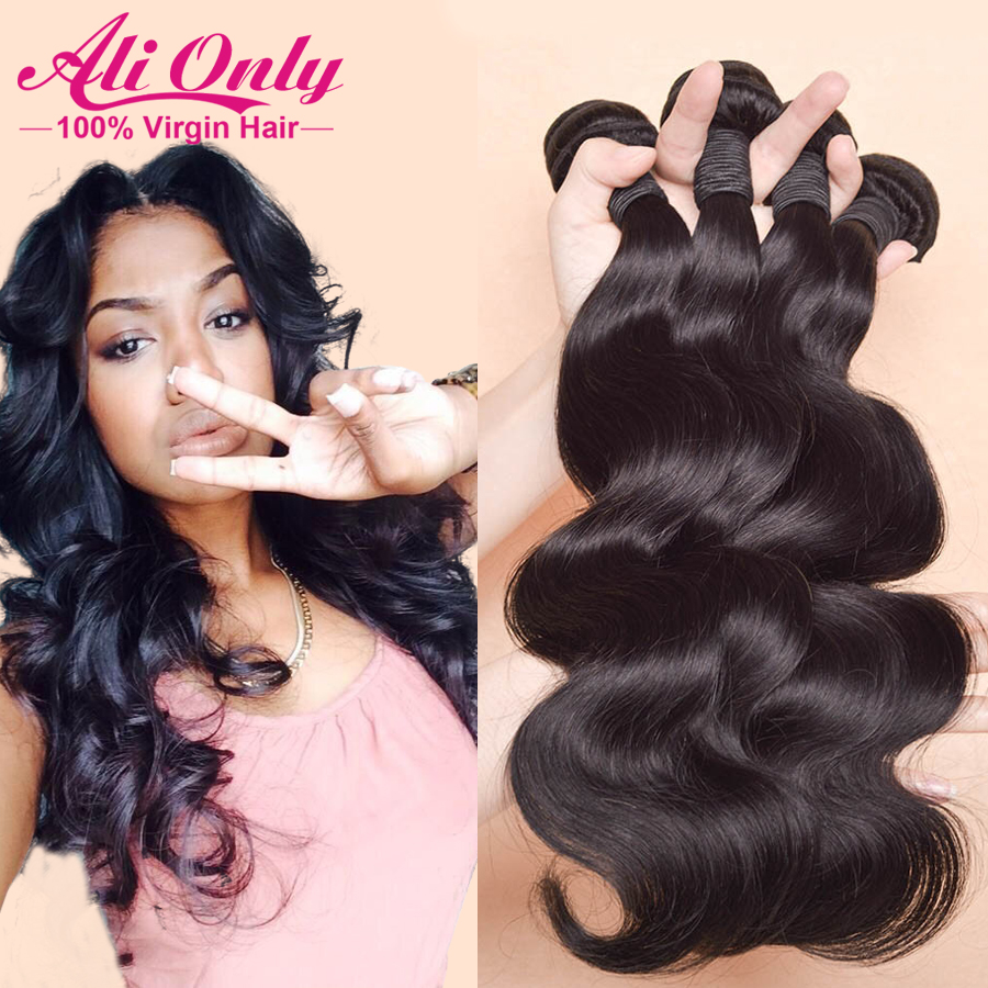 "Гаджет  Rosa hair products malaysian body wave 3pcs lot malaysian virgin hair no mix,8""-30"" human hair extension,no tangle no shedding None Волосы и аксессуары"