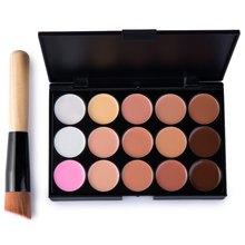 15Colors Professional Concealer Palette Women Ladies Makeup Contour Palette Comestic Facial Face Cream Care Base Palette 1439319(China (Mainland))