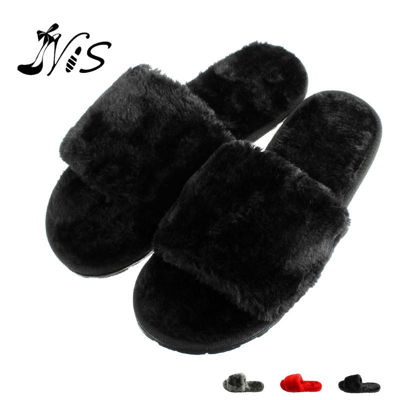 High Quality Womens Slippers Women Ladies Short Soft Plush Open Toe Slipper Girl Outdoor Fashion Non-Slip Winter Autumn Pantufas<br><br>Aliexpress
