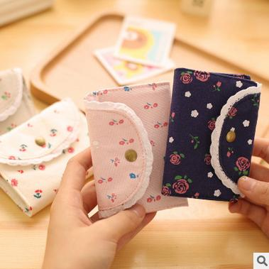 2016 hit South Korea lace had package Creative lovely lady's more screens card package bus card sets(China (Mainland))