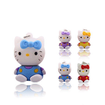 pendrive caroon lovely hello kitty usb flash drive 4gb 8GB u disk 16GB 32G usb flash hang decorations memory stick pen drive(China (Mainland))
