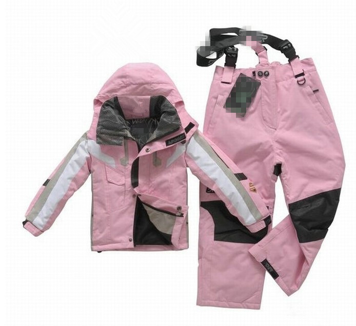 Retail boys and girls sports windproof waterproof winter warm high-quality childrens ski padded Set Free Shipping in stock<br><br>Aliexpress