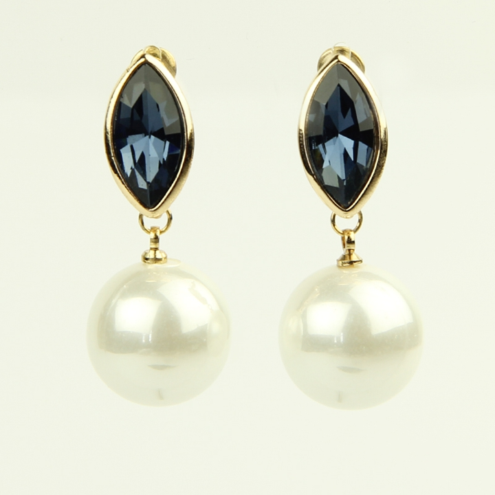 New Details About 2 Pairs Womens Lovely Crystal Earrings Pearl Ear Stud