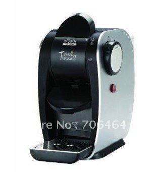 Pod coffee all in one automatic electric maker cappuccino espresso coffee machine unique design protable coffee maker black(China (Mainland))
