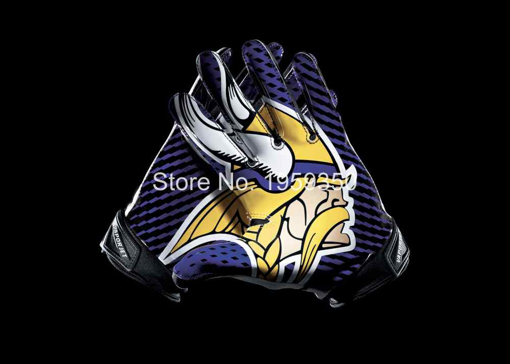 Minnesota Vikings 2 Gloves 3x5 ft flag 100D Polyester flag 90x150cm 40189(China (Mainland))