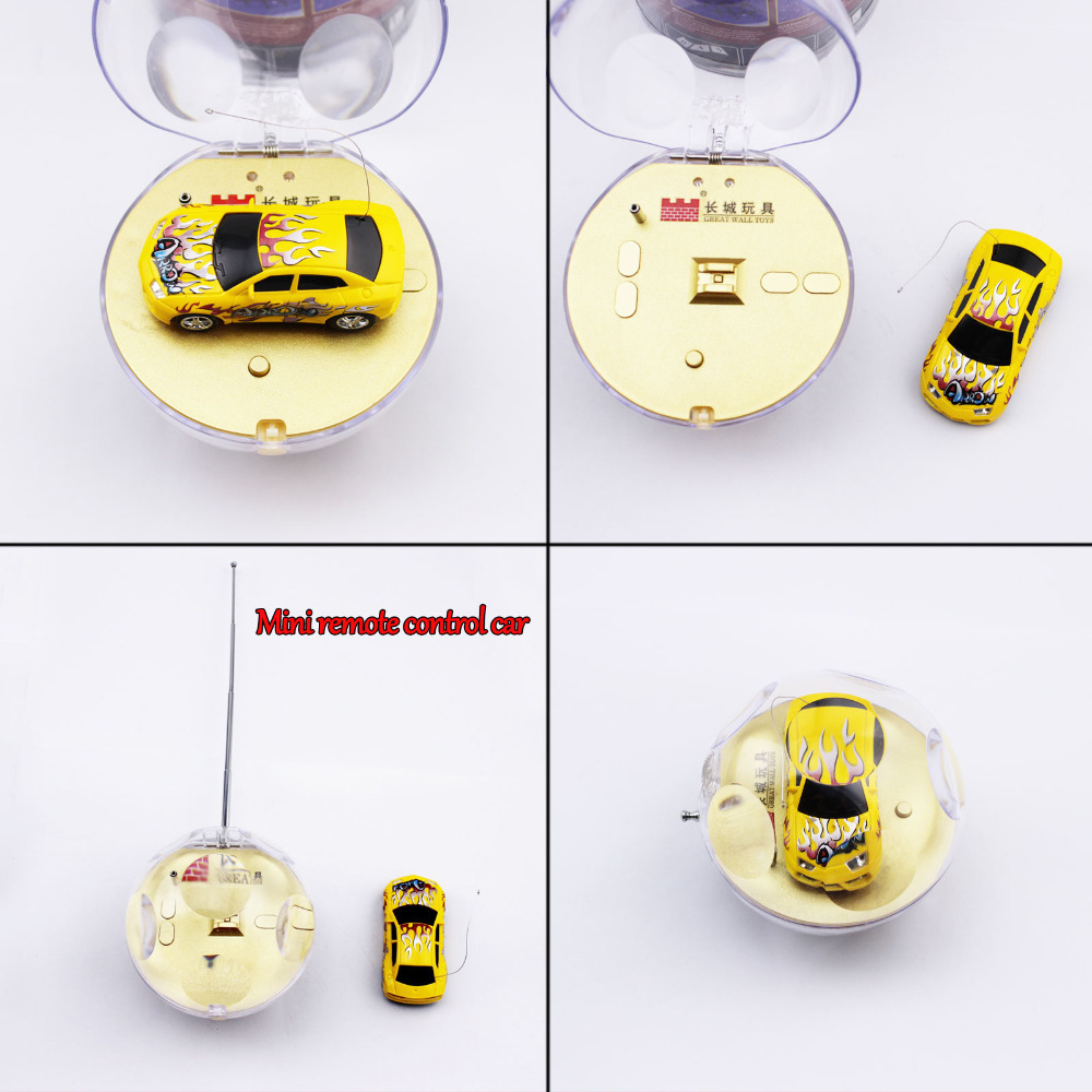2015 Newly Smallest Remote Control Car Crystal Ball Design Rechargeable Toy Car Mini Speed Remote Micro Car Hot Free Shipping(China (Mainland))