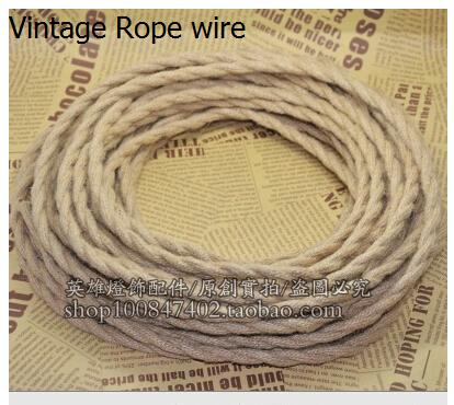 10m/lot  2 core 0.75mm2 Textile Electrical Wire vintage pendant light decoration electrical wire Edison Bulb Lamps cable<br><br>Aliexpress