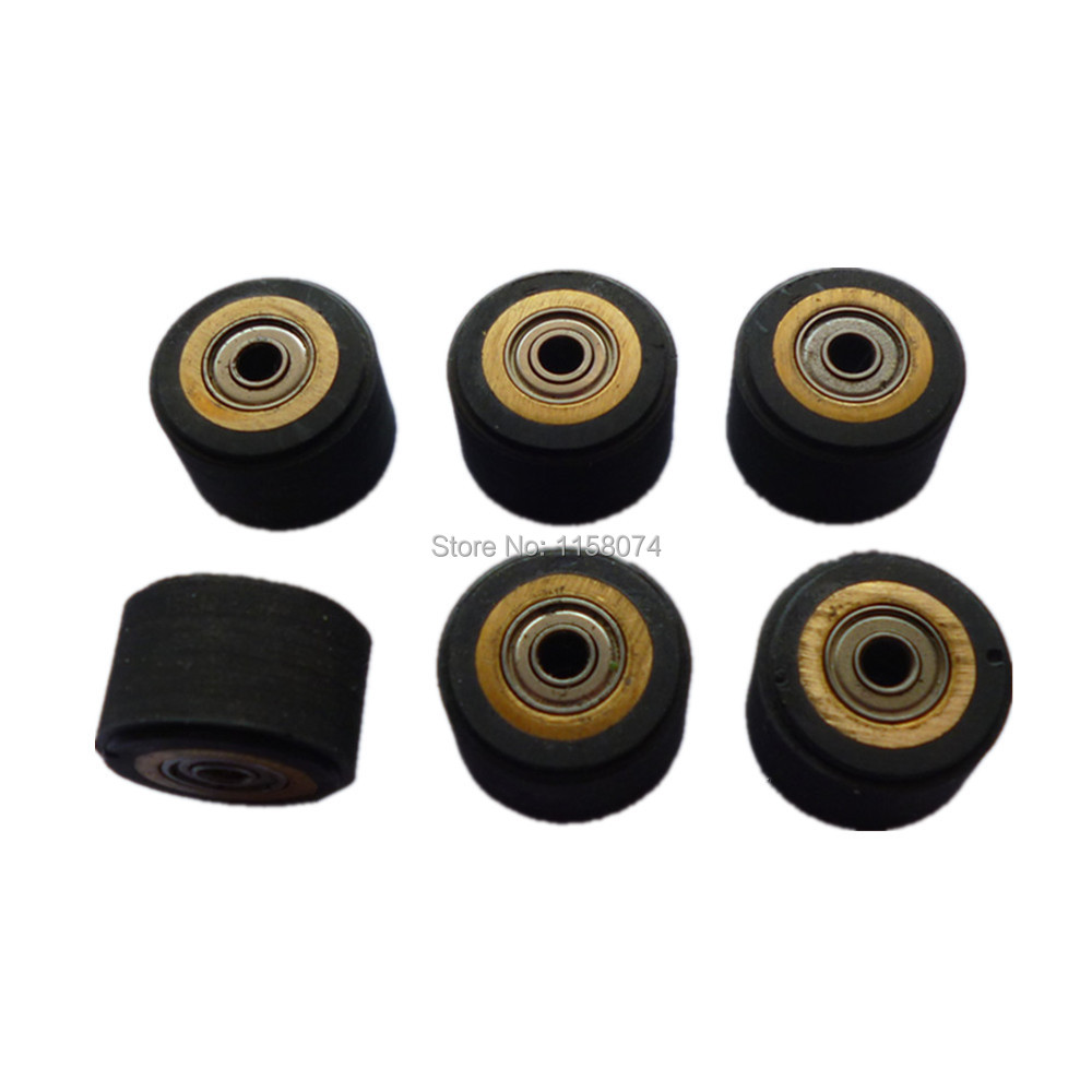 6pcs Copper Core Pinch Roller Hole Dia 3mm For Roland