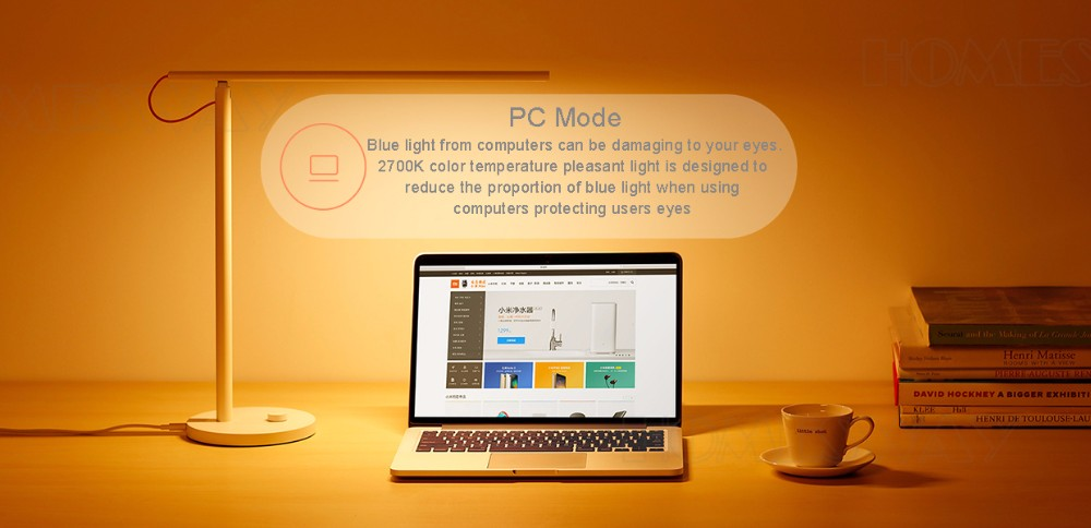 Original Xiaomi Mijia LED Desk Lamp Smart Table Lamps Desklight 4 Lighting Modes Support Smart Phone App Control
