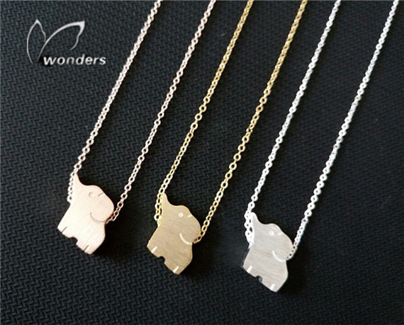 Wholesale 30 pce/lot 2014 Delicate Minimalist Baby Elephant Necklace Cute Animal Layering Pink Pendant Necklace for Women<br><br>Aliexpress