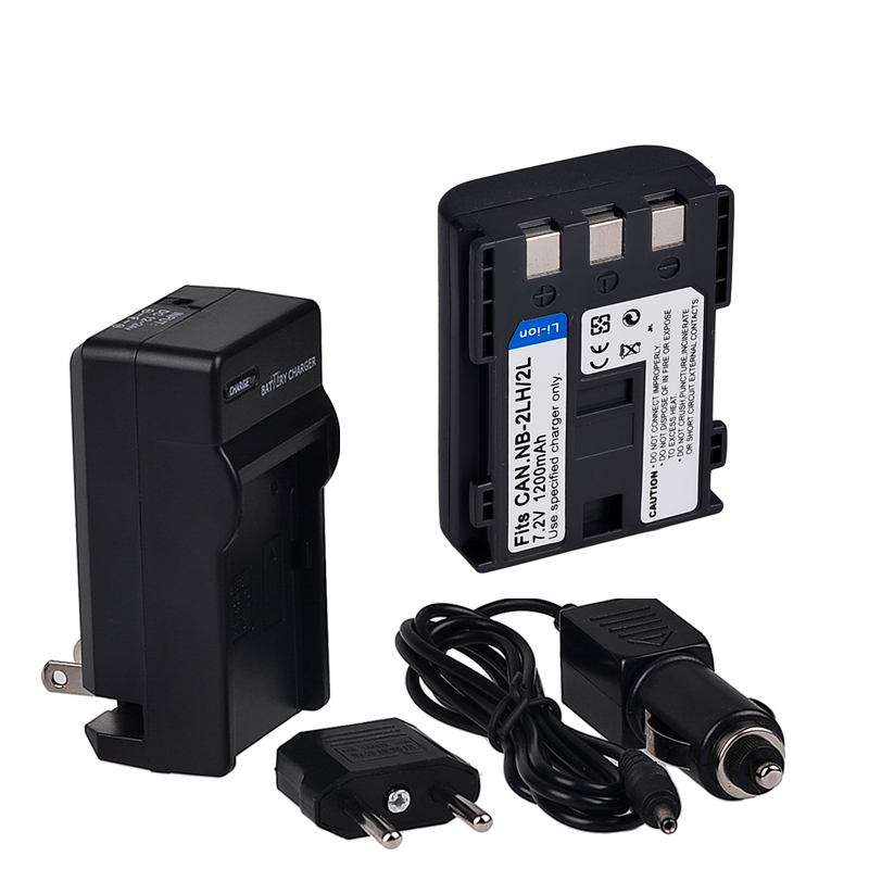 NB-2L NB 2L NB2L NB-2LH Camera Rechargeable Battery+Charger+Car Charger for CANON 350D 400D G7 G9 S30 S40 Free Shipping(China (Mainland))