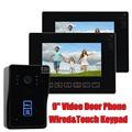 DIYSECUR 9 inch Door Bell Wire Video Door Phone Intercom Doorbell Home Security System Kit IR