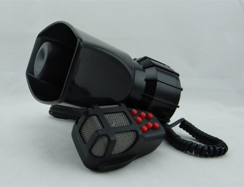 DC12V 100W 7 Sound Car Warning Siren Alarm Police Ambulance loudspeaker with MIC(China (Mainland))