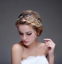 Oro accessori da sposa economici modest perle perline 2016 fatto a mano accessori da sposa nuovo arriva il trasporto libero in stock real(China (Mainland))