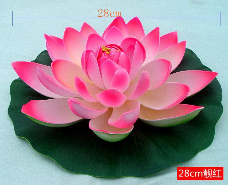 28cm artificial lotus flowers water lily wedding decoration product details mightylinksfo