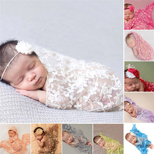 Embroidery Lace Baby Photography Props Newborn Photography Wraps Handmade Lace Scarf Baby Photo Props Accessories(China (Mainland))