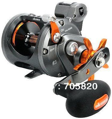 Okuma cold water cw 303d 4 2 1 2bb 1rb right hand line for Handline fishing reel