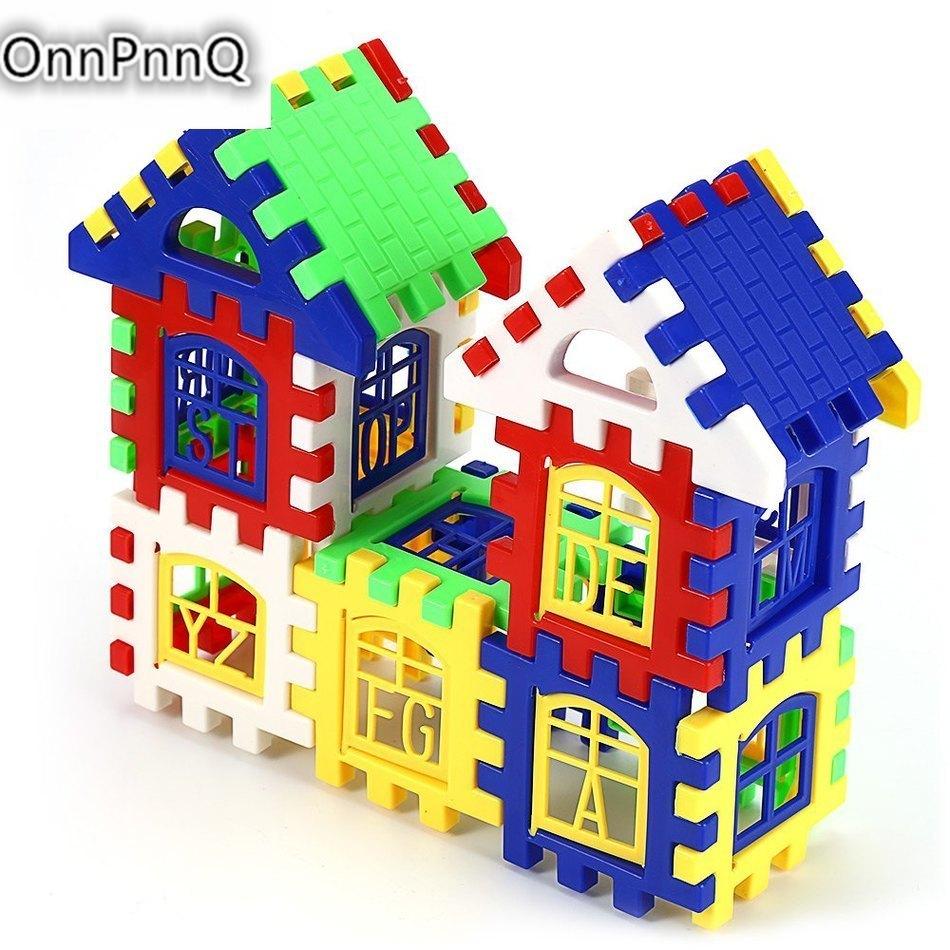 Kids Toys DIY House Building Blocks Construction Brain Development Toy Enlighten Brick Educational Diy kids Toys for Children(China (Mainland))