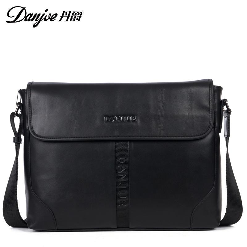 Single Shoulder Bag Mens Leather Mens singles bag head layer cowhide bag men leisure business goods <br><br>Aliexpress