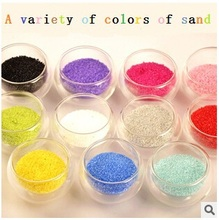 aestheticism color sand      The vase accessories    in bags     The color sand(China (Mainland))