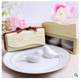 1Set/Lot Bird Seasoning Cans China Material Creative Container For Salt and Pepper Wedding Party Giveaway For Guests Casamento(China (Mainland))