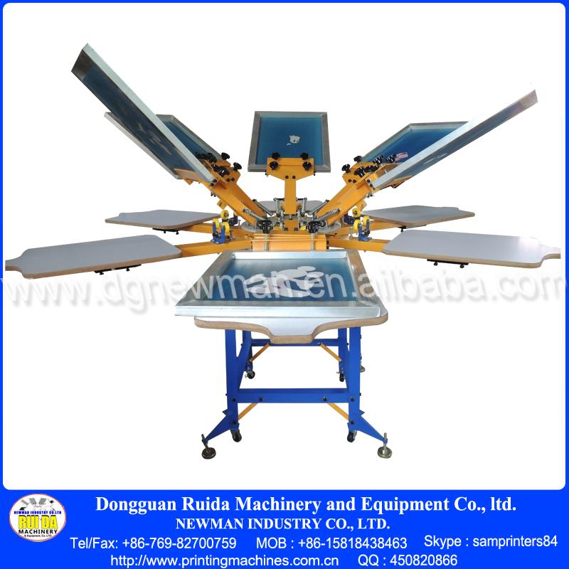 Ns606 esu 6 color t shirt printing machine for Commercial shirt printing machine