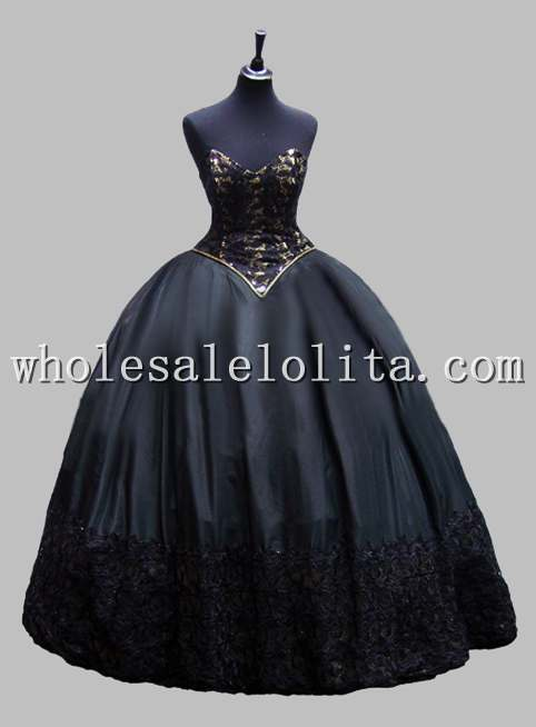 black victorian ball gown - photo #23