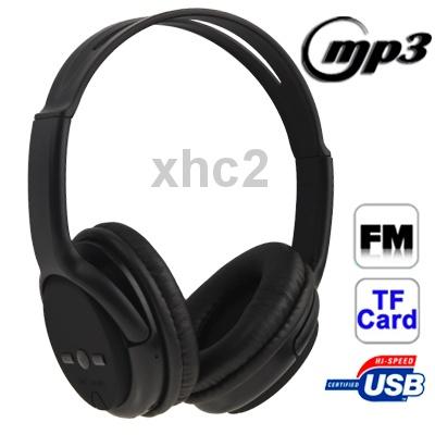 S80 с высокой четкости питанием изоляции Студия беспроводной Привет-Fi TF карта наушники / MP3-плеер с FM-радио, литиевая батарея (черный