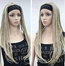 Wholesale& heat resistant LY free shipping>>>New Unique Blonde mix man-made braided wig