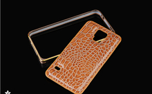 2015 Aluminum Crocodile Leather 5 colors Case For Samsung Galaxy S5 i9600 Cell Phone Hard Case