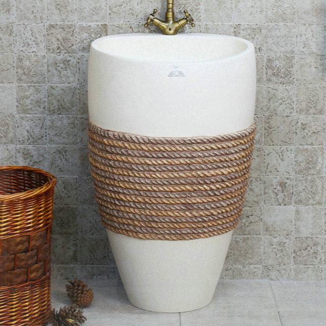 Accesorio Baño Antiguo:Moda meaka antiguo lavabo de pedestal de lujo ecológica lavabo lavabo