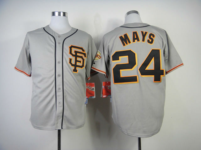 free shipping Cheap San Francisco Giants #24 Willie Mays Baseball Jersey Mix Orders,Embroidery Logos(China (Mainland))