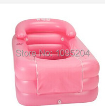 Adults Free Ship PVC Folding Portable Inflatable Spa Bath Tub with zipper cover Drink Holder(China (Mainland))
